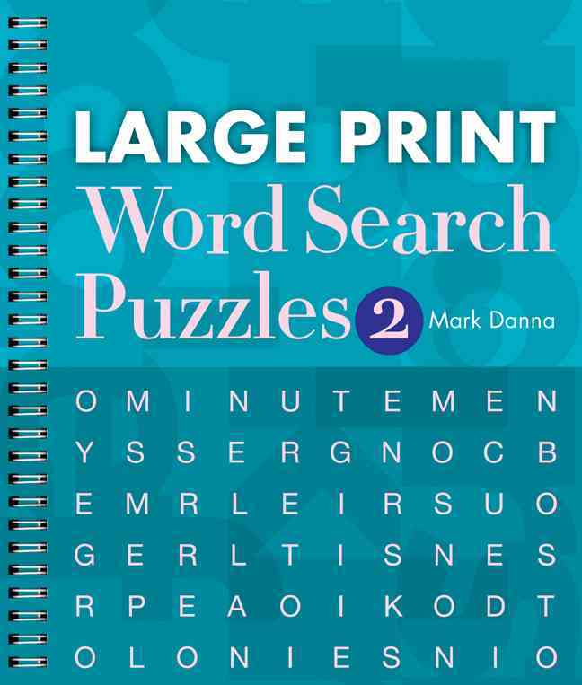 Large Print Word Search Puzzles By Danna, Mark